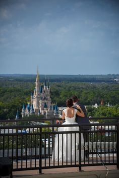 A perfect view of Cinderella Castle from the top of Disney's Contemporary Resort