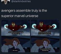 Open Geek House is under construction Avengers Memes, Marvel Jokes, Marvel Funny, Marvel Dc Comics, Marvel Avengers, Marvel Cartoons, Warrior Cats, Dc Memes, Funny Memes