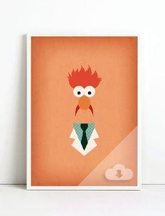 """Druckbare Kunst die Muppets Show """"Becher"""" Muppet Party Kinderzimmer Dekor Muppet Babys Schlafzimmer Dekor Muppet Geburtstag Einladung Kunstdruck herunterladen"""