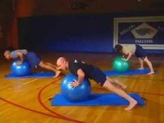 Workout Video - Pilates ball workout