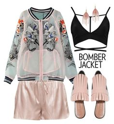"""#bomberjackets"" by miee0105 ❤ liked on Polyvore featuring WithChic, Marni, Boohoo, Serefina and bomberjackets"