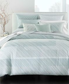 Hotel Collection Layered Frame KING Duvet Cover Jade Green Tones BRAND NEW #HotelCollection #Contemporary King Comforter, Queen Duvet, Frame Layout, Hotel Collection Bedding, Bernhardt Furniture, Bed Styling, Bedding Collections, Duvet Covers, Full Duvet Cover