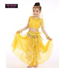 Quality Indian Sari Girls Dress Orientale Enfant Indian Costumes For Kids  Oriental Dance Costumes Belly Dance Dancer Clothes Set bd26c5e38b5d1