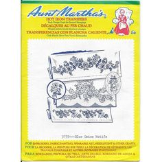 Aunt Martha's Hot Iron Transfers 3759 Blue Onion Motifs Uncut Factory Sealed Listing in the Fabric Transfers,Fabric Painting & Decorating,Crafts, Handmade & Sewing Category on eBid Canada Swans, Blue Onion, Needlepoint Canvases, Iron On Transfer, Arts And Crafts, Art Crafts, Fabric Painting, Decoration, Craft Supplies