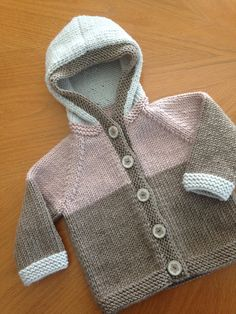 Hoodie Baby Cardigan Knitting Pattern, Knitted Baby Cardigan, Toddler Sweater, Knit Baby Sweaters, Knitted Baby Clothes, Baby Knitting Patterns, Baby Patterns, Knitting For Kids, Patch