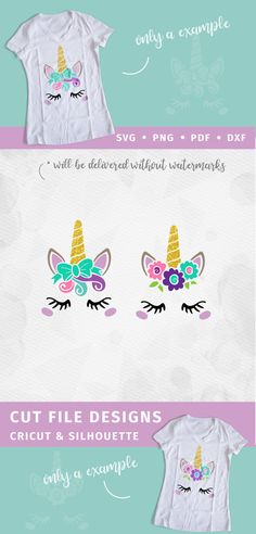 Unicorn SVG - Unicorn Head SVG - Unicorn Face SVG - Bow Unicorn horn Birthday - Cricut Silhouette - pdf png svg - girls birthday MLY2017025 by ModillyHandlettering on Etsy