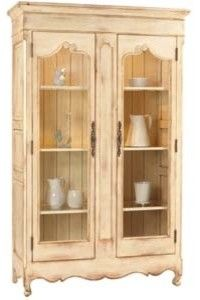 """French Heritage  Calais Curio Cabinet  VisitStore»  Uploaded by Between Naps on the Porch  Display all your favorite collectible in the Calais Curio Cabinet. What a beautiful way to store treasures that are irreplaceable and you fear could get broken. The French styling of this cabinet is truly elegant.   W 50.0"""" D 20.0"""" H 80.5"""""""