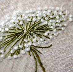 Super Ideas For Embroidery French Knot Needlework Silk Ribbon Embroidery, Hand Embroidery Patterns, Embroidery Applique, Embroidery Stitches, Embroidery Designs, Flower Embroidery, Applique Patterns, Japanese Embroidery, Art Patterns
