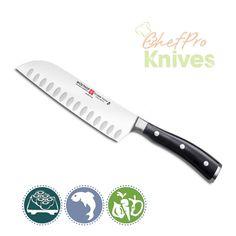 Wusthof Classic Ikon Hollow Edge Santoku Knife - Our Current Favorite!