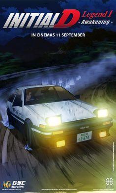 Poster Movie 3 Initial D Honda S2000, Honda Civic, Manga Japan, Japanese Domestic Market, Initial D, V Max, Nissan Skyline, Subaru Impreza, Toyota Corolla