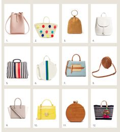 style me wants : spring bags creatures of comfort glamorous need supply co everlane clare v. marc jacobs rachel comey h&m furl inge christopher ornella mar y sol stylish unique cute bags totes beach bags clutch leather cross body ring bucket bag backpack carry on satchel circle bag wood clutch