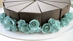 Wedding favors disguised as a cake