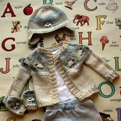 Sheep Yoke Baby Cardigan Free Knitting Pattern