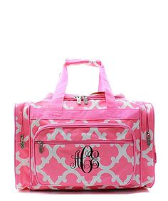 763a2bddaf Monogram duffle bag Personalized Gray n Pink by sewsassybootique Travel  Luggage