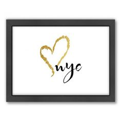 Big City Love Framed Wall Art Print