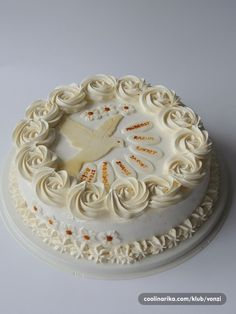 Confirmation Cakes, Ruffle Cake, Occasion Cakes, Album, Desserts, Food, Sprinkle Cakes, Decorating Cakes, Ideas
