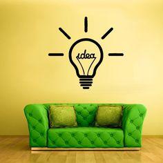 Wall Vinyl Sticker Decals Decor Art Bedroom Lamp Idea Symbol Lights Bulb Sign Word (Z1881) StickersForLife http://www.amazon.com/dp/B00FMJH7KU/ref=cm_sw_r_pi_dp_2Lqfvb0VV33RZ