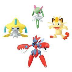 Faça parte das mais incríveis aventuras, com os mais diversos, poderosos e raros Pokémons.     Conheça os sensacionais conjuntos Pokémon com quatro figuras diferentes, são diversos modelos para brincar e colecionar.     Com eles as crianças poderão soltar a imaginação e usar toda a criatividade para criar as mais incríveis histórias.     Além das figuras, também inclui uma ficha de ataque para cada personagem, tornando a brincadeira ainda melhor.
