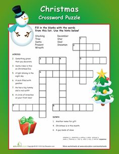 ... The Season on Pinterest   Crossword puzzles, Crossword and Worksheets