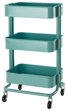 And look at this color!   Råskog Kitchen Cart contemporary kitchen islands and kitchen carts