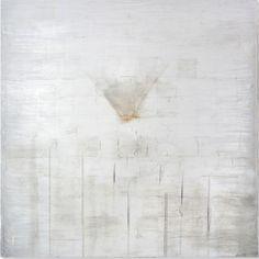 Alice Cescatti  Memory Acid etched silver leaf panel 100 x 100 cm