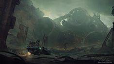 Foreign Lands by Gabriel Björk Stiernström (OC) Cyberpunk City, Sci Fi Environment, Sci Fi Books, Environmental Art, Sci Fi Fantasy, Cool Artwork, Science Fiction, Gabriel, Concept Art