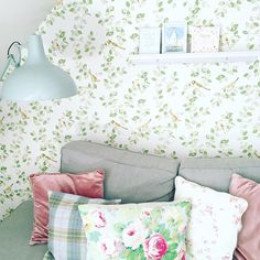 3 aviary garden apple green wallpaper laura ashley things i Green Wallpaper, Pattern Wallpaper, Wallpaper Ideas, Laura Ashley Home, New York Pictures, Farm Cottage, Most Beautiful Wallpaper, Colorful Decor, Interior Inspiration