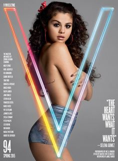 """Selena Gomez Poses Topless, Talks About """"First Love,"""" Admits She Felt Depressed and Drove Herself """"Crazy""""  Selena Gomez, V Magazine"""