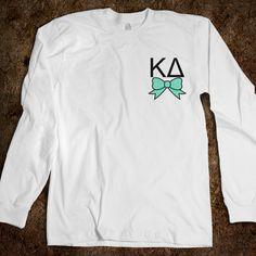 I WANT MORE LONG SLEEVE KAYDEE SHIRTS<3  Kappa Delta - Long Sleeve - Bow