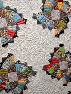 Twirling Fans Quilt with beautiful quilting!