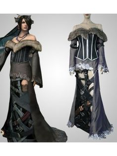Final Fantasy X Lulu Deluxe Cosplay Outfits Costumes