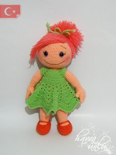 PATTERN Lucia Doll crochet amigurumi by HavvaDesigns on Etsy