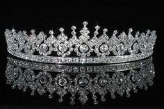 To dress up a bike helmet. Royal Crystal wedding tiara from Bella.