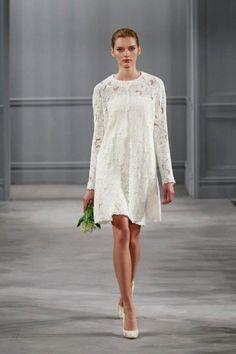 Vestito corto di pizzo Monique Lhuillier