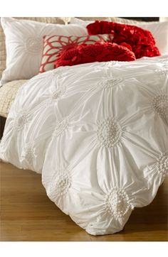 Nordstrom at Home 'Chloe' Duvet Cover | I also like it with a pop of red