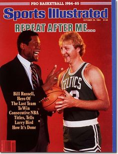 sports illustrated pro bill russell larry bird from… Celtics Basketball, Basketball Pictures, Basketball Coach, Basketball Legends, Basketball Cards, College Basketball, Larry Bird, Sports Ilustrated, Si Cover