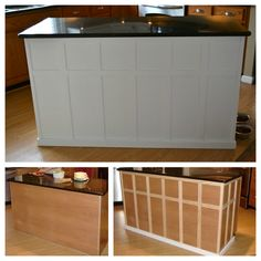 Kitchen Island Update island board and battenmaybe something like this and painted