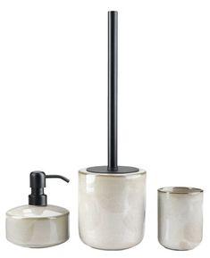 Dozator săpun KISA glazurat | JYSK Package Delivery, Soap Dispensers, Toilet Brush, Toothbrush Holder, Tweed, Glaze, Bathroom, Amsterdam, Washroom