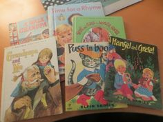 Vintage Lot of Small Children's Books Hansel Gretel Puss in Boots Mother Goose Time for a Rhyme Grandpapa and Me by HolySerendipity on Etsy