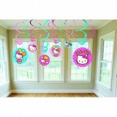 Hello Kitty Swirl Decorations