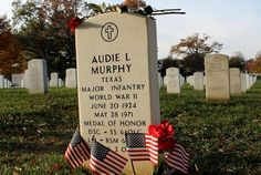 Amazing photos of Arlington Cemetery on Veteran's Day.  Audie Murphy, most decorated soldier of World War II