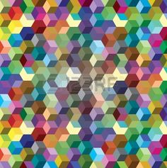 Abstract background from color cubes, illustration