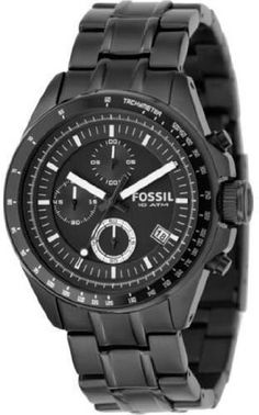 #Fossil #Fossil Men's Stainless Steel Chronograph Black Dial #Watch       Watch This!       http://amzn.to/HafWWb