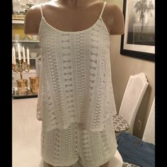 Lace romper New without tags. Lace romper. Fully lined.adjustable straps Mossimo Supply Co Other