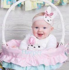 Hippity Hoppity Pink Bunny Tutu Set With Ruffle by GrownWithGrace Bunny tutu set 4 piece set My first Easter Easter photos Bunny Headband