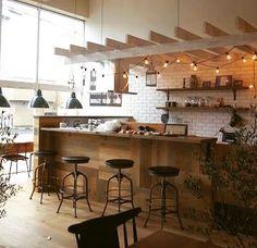 Cafe Shop, Cafe Bar, Bakery Interior, Interior Design, House Inside, Cafe Design, Restaurant Bar, Industrial Style, Kitchen