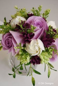 Clay bouquet lilac and purple