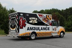 EMS Ambulance & emergency vehicles for patient transport. American Ambulance, Ems Ambulance, Columbus Fire Department, Fire Equipment, Rescue Vehicles, Emergency Response, Fire Apparatus, Emergency Vehicles, Police Cars