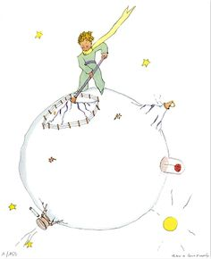 The little Prince, on the asteroid b612
