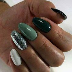 Pin by Alexandra Racheva on in 2020 Green nails Cute nails Classy nails Classy Nails, Stylish Nails, Simple Nails, Cute Nails, Pretty Nails, Gorgeous Nails, Hair And Nails, My Nails, Long Nails